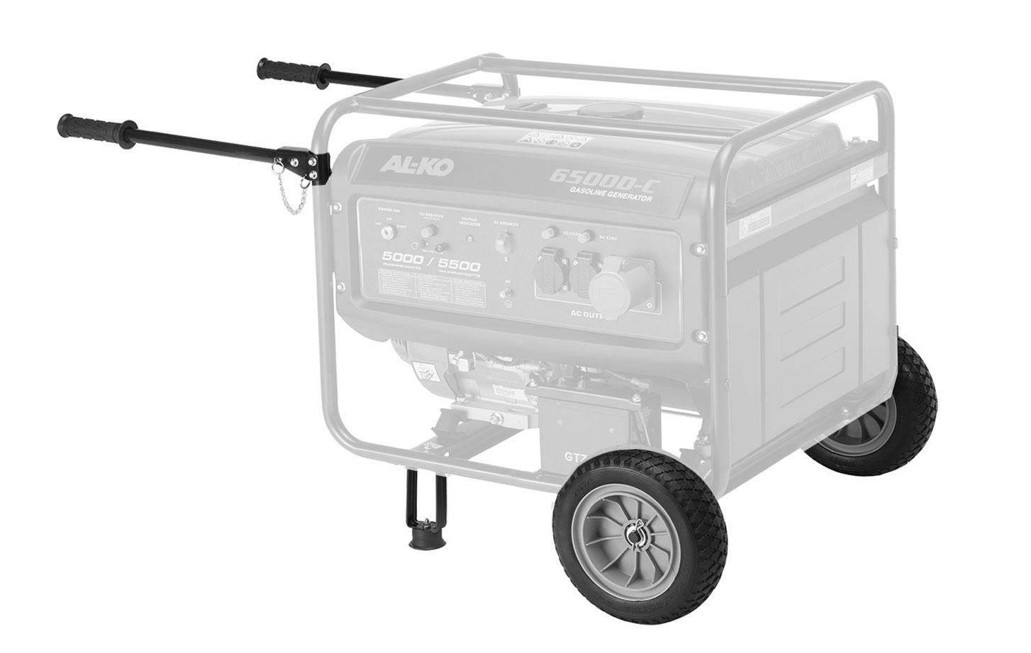 AL-KO Radsatz und Griffe für AL-KO Stromerzeuger 2500 / 3500 / 6500 Bild 1