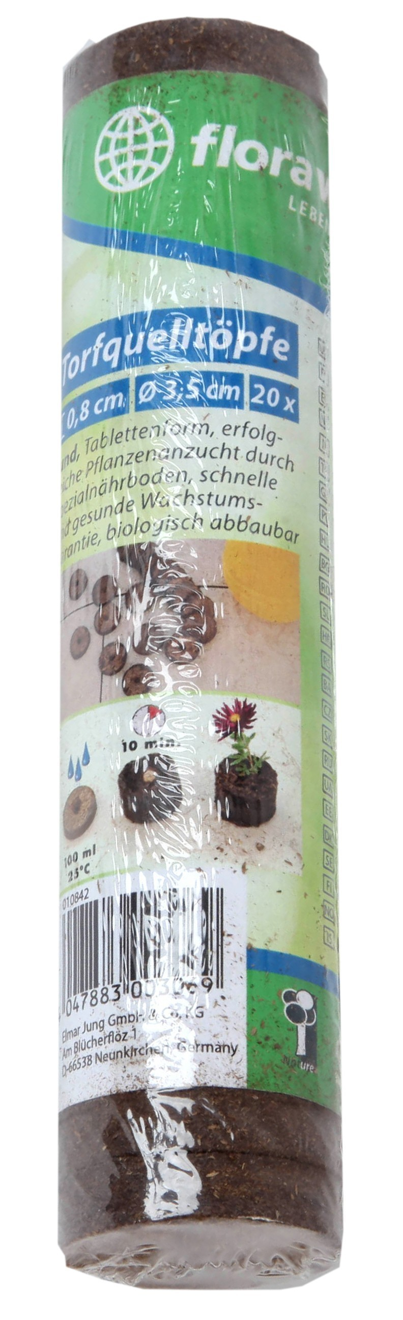 Torfquelltöpfe / Torfquelltabs classic floraworld Ø3,5cm 20 Stück Bild 1