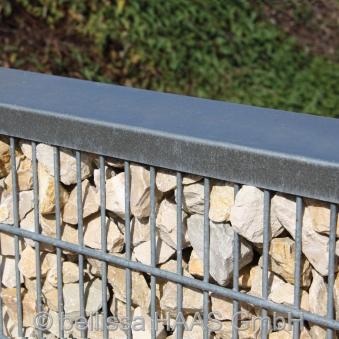 Abdeckprofil mit Schrauben für Steinzaun Set bellissa 200x12cm Bild 2