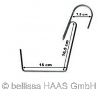 Blumenkastenhalter groß verzinkt bis 30kg bellissa B15,5cm 1Stück Bild 2