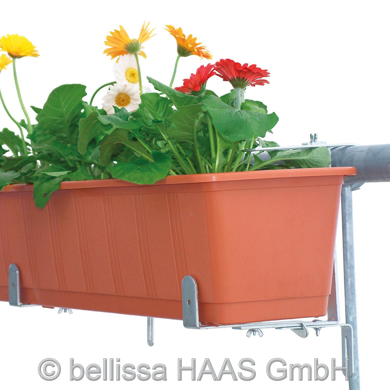 Blumenkastenhalter verzinkt für Rundrohre bellissa belastbar bis 30kg Bild 2