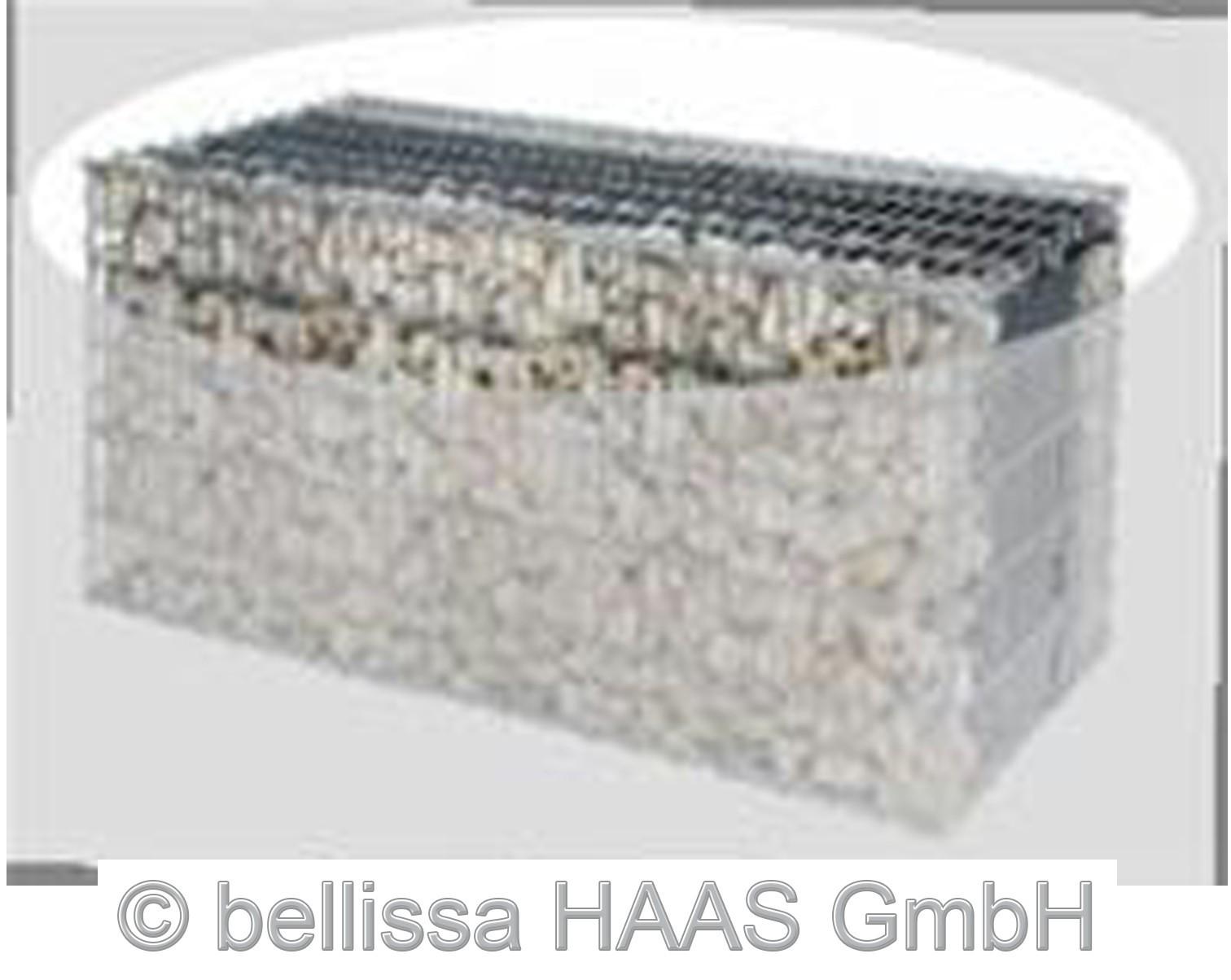Bodengitter / Deckelgitter für Schallschutz Gabionen bellissa 120x40cm Bild 1