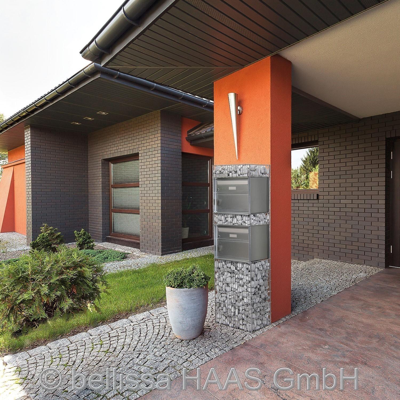 briefkasten steinkorb gabione spl gen 2 bellissa 44x31x145cm bei. Black Bedroom Furniture Sets. Home Design Ideas