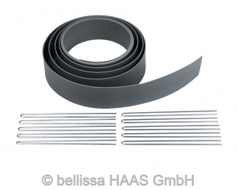 Formkante Kunststoff mit Spezialheringen bellissa L500xH7cm Bild 1