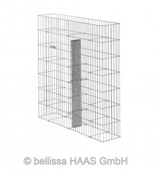 Gabione / Steinkorb Pronto mit Pfosten bellissa 102,5x23,5x105,5cm Bild 1