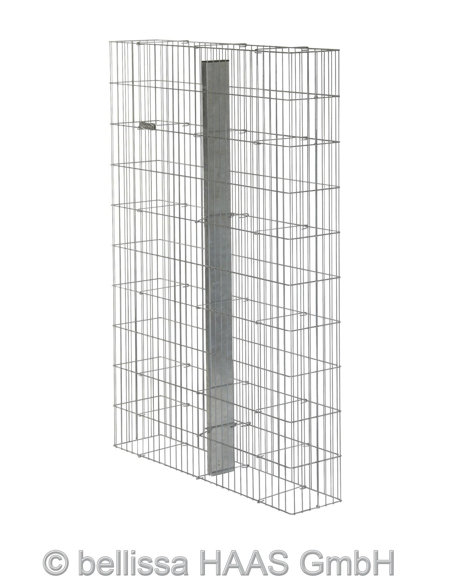Gabione / Steinkorb Pronto mit Pfosten bellissa 102,5x23,5x150cm Bild 1