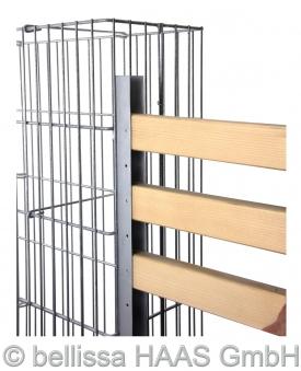 Gabionen Anbauprofil zur Holzaufnahme bellissa 2 Stück Bild 3