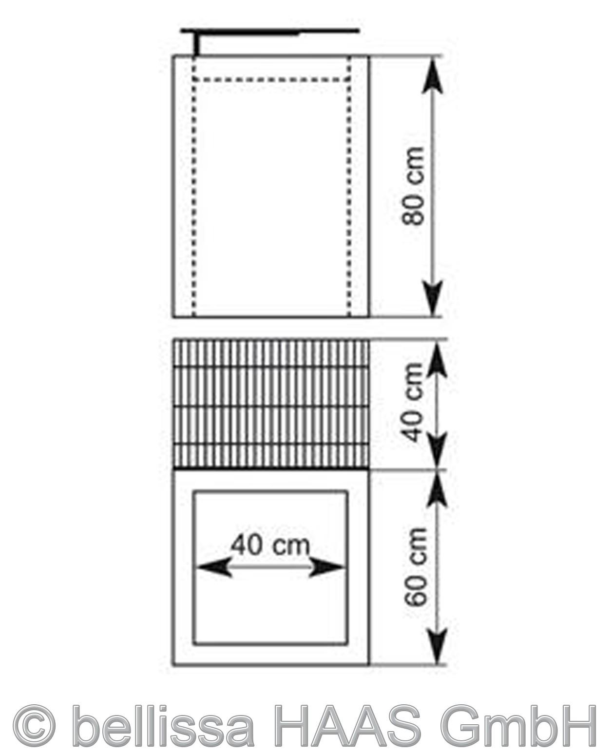 gabionengrill steinkorb bellissa 80cm bei. Black Bedroom Furniture Sets. Home Design Ideas