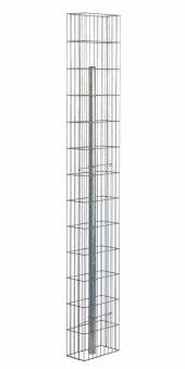 Gabionensäule / Gabionenstele Pronto mit Pfosten bellissa 15x30x195cm Bild 1