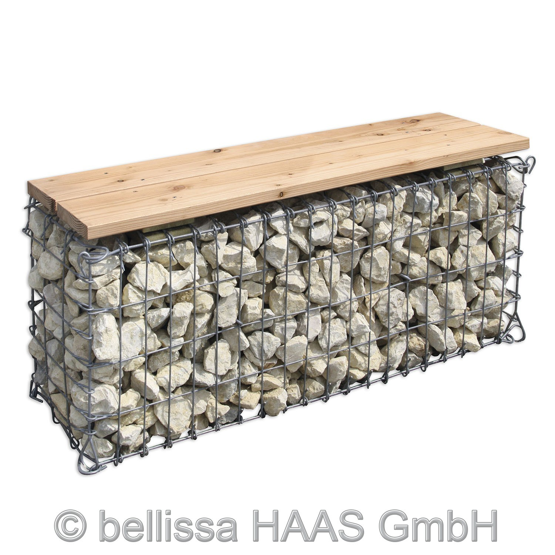 gartenbank steinkorb gabionen bank bellissa 100x30x46cm bei. Black Bedroom Furniture Sets. Home Design Ideas