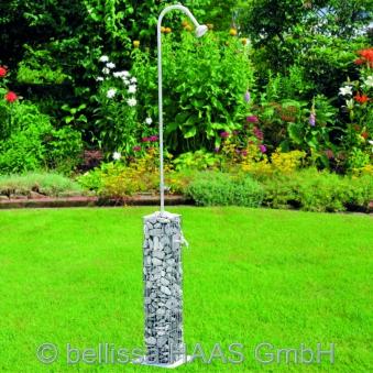 Gartendusche / Dusche Steinkorb Gabione bellissa 16x16x220cm Bild 1