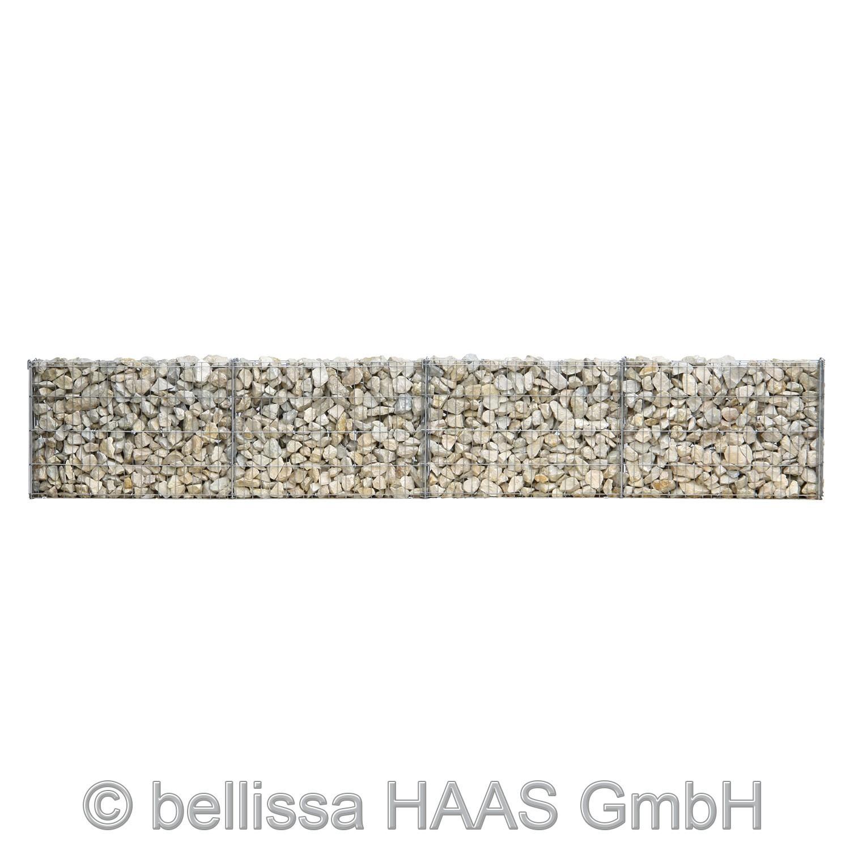 Gartenmauer / Mauer Gitter Set Steinkorb bellissa 232x10x40cm Bild 1