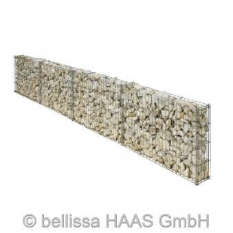 Gartenmauer / Mauer Gitter Set Steinkorb bellissa 232x10x40cm Bild 4