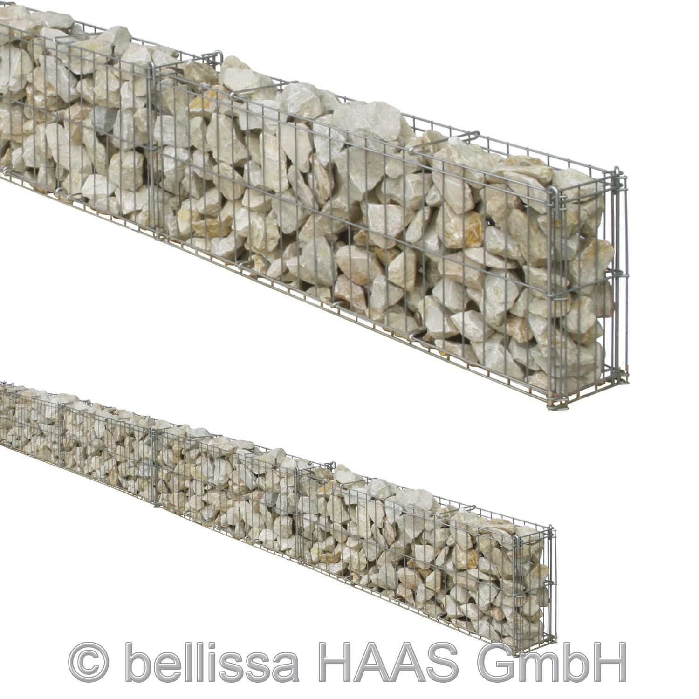 Gartenmauer / Mauer Gitter Set Steinkorb bellissa 464x10x20cm Bild 1