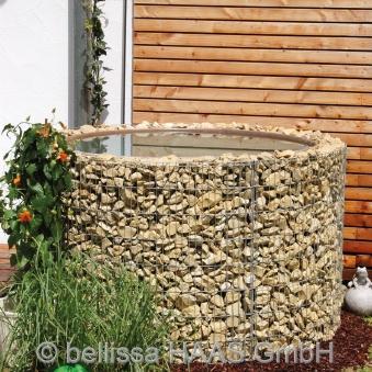 Gartenteich / Wasserfass Steinkorb bellissa Ø130cm Höhe 80cm Bild 1