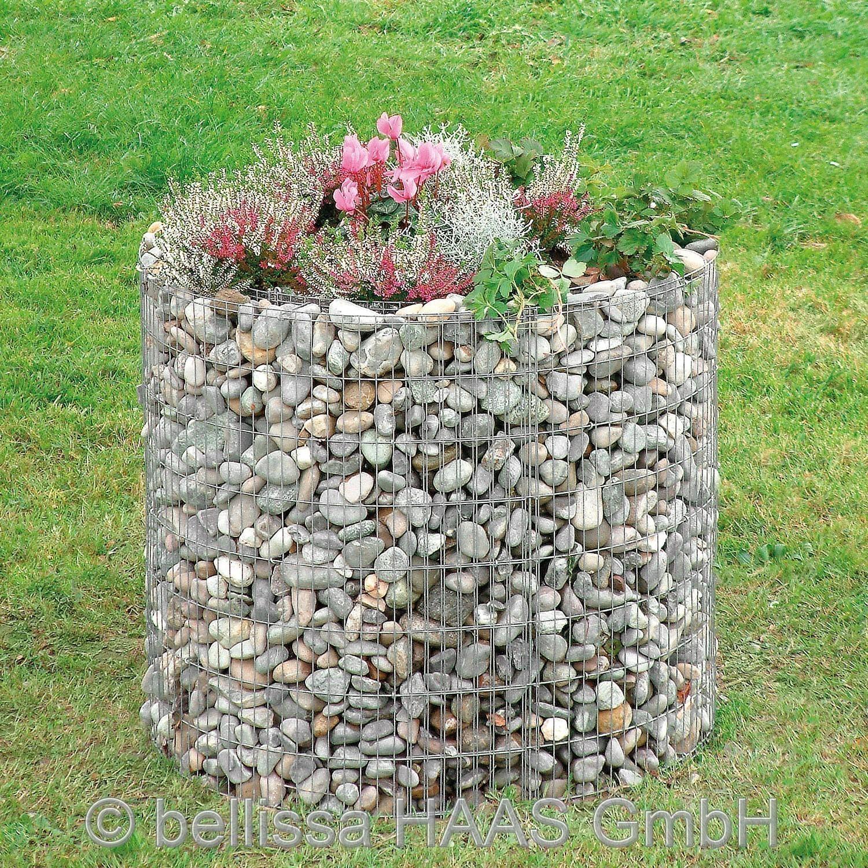 Hochbeet Steinkorb bellissa Ø146cm Höhe 80cm Bild 1