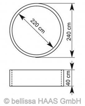 Hochbeet Steinkorb bellissa Ø240cm Höhe 40cm Bild 2