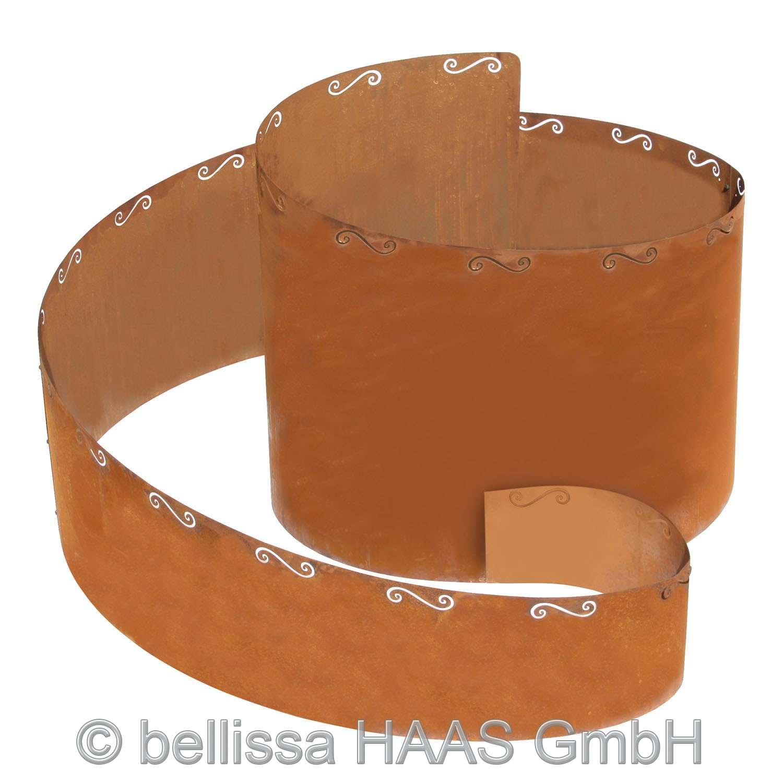 Kräuterspirale / Kräuterschnecke Corten blank bellissa 130x140x80cm Bild 2