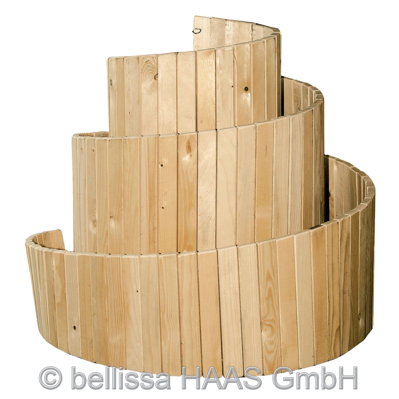Kräuterspirale / Kräuterschnecke Holz bellissa 120x120cm Bild 2