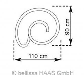 Kräuterspirale / Kräuterschnecke Steinkorb bellissa 110x90cm Bild 2