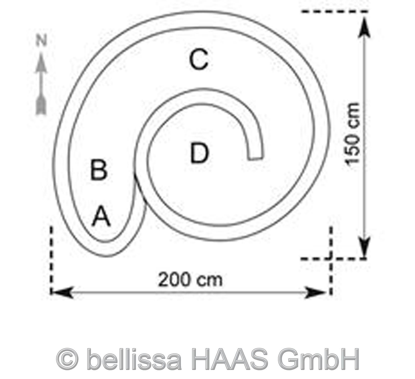 Kräuterspirale / Kräuterschnecke Steinkorb bellissa 200x150cm Bild 2