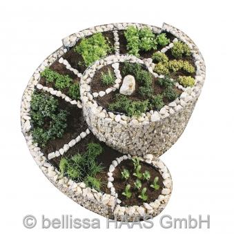 Kräuterspirale / Kräuterschnecke Steinkorb bellissa 200x150cm Bild 3