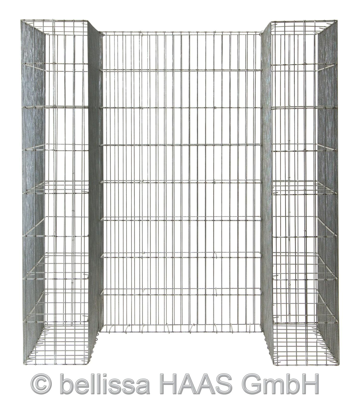 Mülltonnen Gabione Set für 1 Tonne bellissa 112x101,5x120cm Bild 3