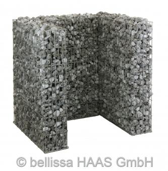 Mülltonnen Gabione Set für 1 Tonne bellissa 112x101,5x120cm Bild 1