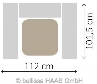 Mülltonnen Gabione Set für 1 Tonne bellissa 112x101,5x120cm Bild 4