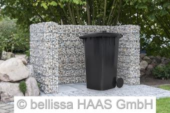 Mülltonnen Gabione Set für 2 Tonnen bellissa 177x101,5x120cm Bild 2