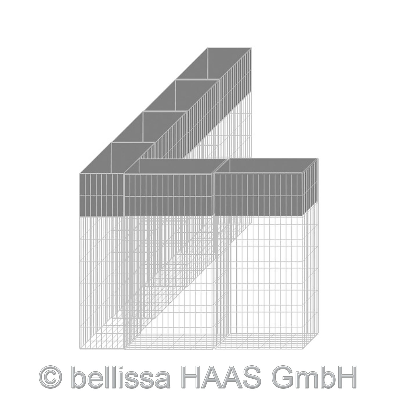 Pflanzgabione / Steinkorb mit Bewässerungskasten bellissa 40x20x80cm Bild 4