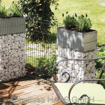 Pflanzgabione / Steinkorb mit Bewässerungskasten bellissa 40x20x80cm Bild 2