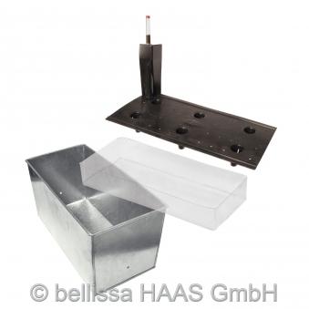 Pflanzgabione / Steinkorb mit Bewässerungskasten bellissa 40x20x80cm Bild 3