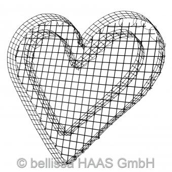 Pflanzschale / Blumenschale Gitter Steinkorb Herz bellissa 37x34x4cm Bild 1