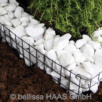 Pflanzschale / Blumenschale Gitter Steinkorb Herz bellissa 37x34x4cm Bild 3