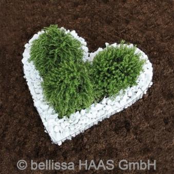 Pflanzschale Herz mit 3 kg Kieselsteine Bild 1