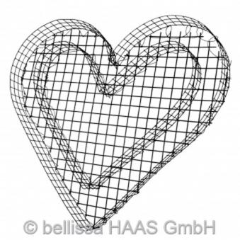 Pflanzschale Herz mit 3 kg Kieselsteine Bild 2