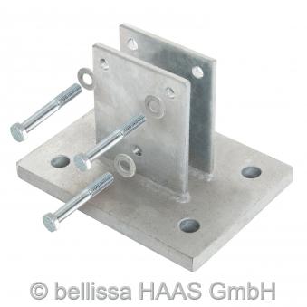 Schraubflansch für Steinkorb bellissa 200x150x135mm