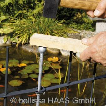 Pfosten verzinkt für Teichschutzzaun bellissa H130cm Ø10mm Bild 2