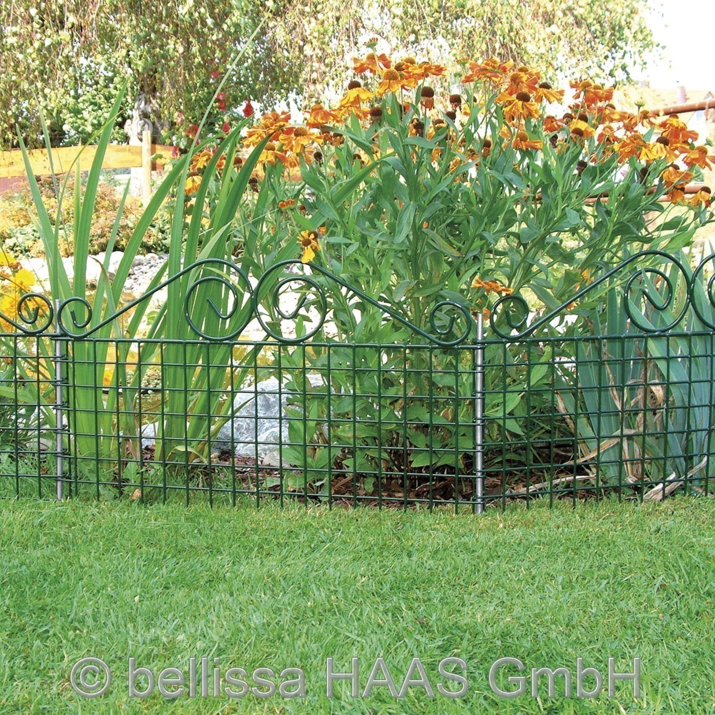 Rabattenzaun Gartenzaun Ambiente mit Schnörkel bellissa 76x44cm