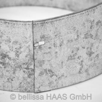 Rasenkante Metall verzinkt Kreis bellissa Ø20cm H13cm Bild 1