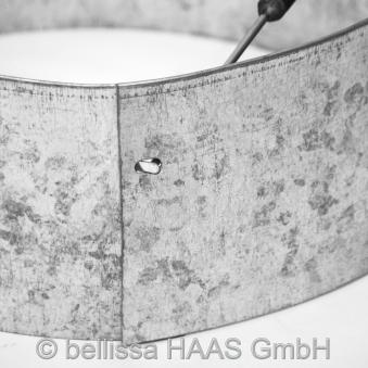 Rasenkante Metall verzinkt Kreis bellissa Ø40cm H13cm Bild 1