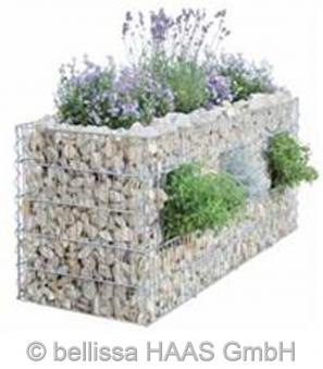 Schallschutz Gabione Steinkorb 2-seitig bepflanzbar bellissa 120x40x50 Bild 1
