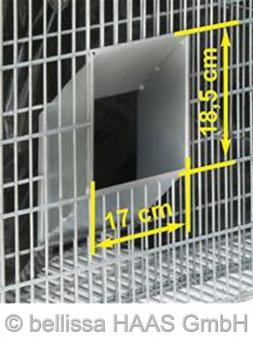 Schallschutz Gabione Steinkorb 2-seitig bepflanzbar bellissa 120x40x50 Bild 2