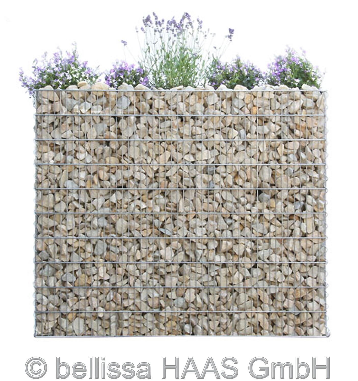 Schallschutz Gabione / Steinkorb bepflanzbar bellissa 120x40x100cm Bild 1