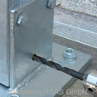 Schraubflansch für Steinkorb bellissa 200x150x135mm Bild 2
