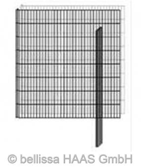 Pfosten verzinkt für Steinmauer bellissa 10x3x115cm