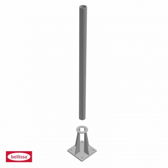 Schraubflansch für bellissa Steinsäule Rohr Ø 42mm 150x150x201mm Bild 2