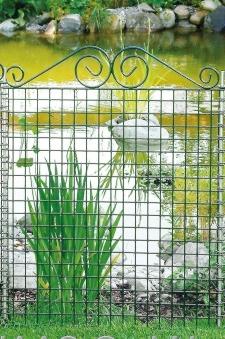 Teichschutzzaun Element Ambiente mit Schnörkel bellissa 76x94cm Bild 1