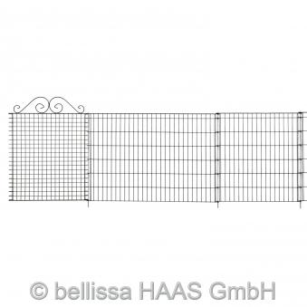 Teichschutzzaun Element Ambiente mit Schnörkel bellissa 76x94cm Bild 2